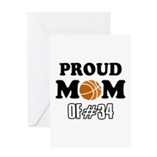 Cool Basketball Mom of number 34 Greeting Card