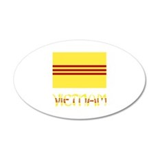S. Vietnam Flag & Name Wall Decal