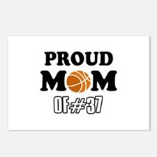 Cool Basketball Mom of number 37 Postcards (Packag