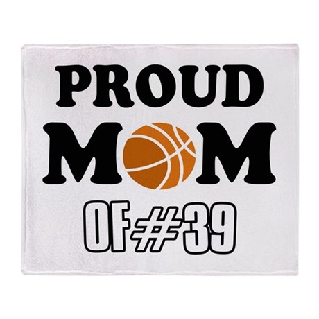 Cool Basketball Mom of number 39 Throw Blanket