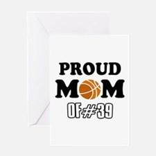 Cool Basketball Mom of number 39 Greeting Card