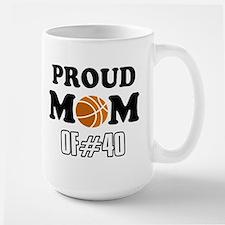 Cool Basketball Mom of number 40 Large Mug
