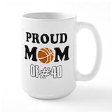 Basketball mom Large Mugs (15 oz)