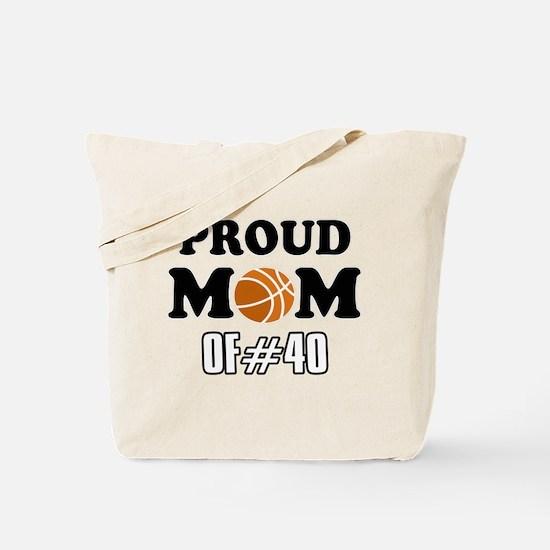 Cool Basketball Mom of number 40 Tote Bag