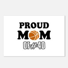 Cool Basketball Mom of number 40 Postcards (Packag