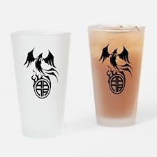 A.A.N.A. Phoenix B&W - Drinking Glass