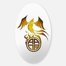 A.A.N.A. Logo Phoenix - Sticker (Oval)