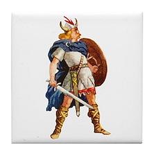 Scandinavian Viking Tile Coaster