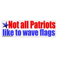 Patriots and Flags Bumper Bumper Sticker