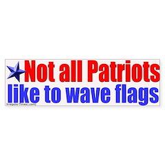Patriots and Flags Bumper Bumper Sticker
