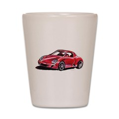 Red Porsche Shot Glass