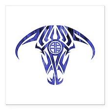 """A.A.N.A. Logo Taurus B&W - Square Car Magnet 3"""" x"""