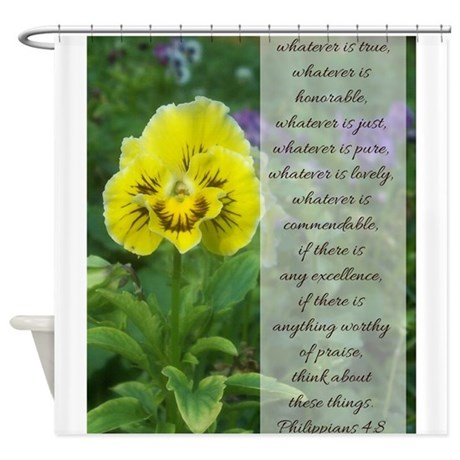Philippians 4:8 Shower Curtain