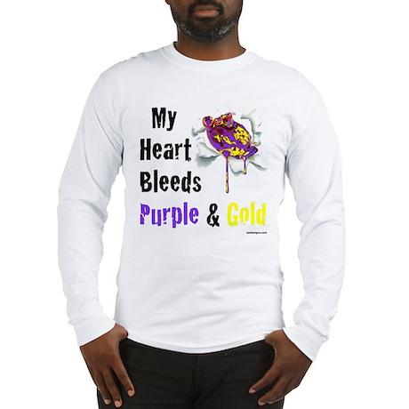 Heart bleeds purple Gold Long Sleeve T-Shirt
