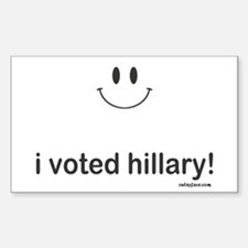 i voted hillary Decal