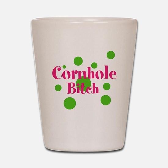 Cornhole Bitch Shot Glass