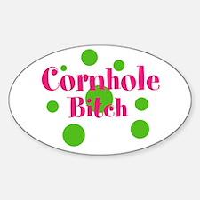 Cornhole Bitch Sticker (Oval)