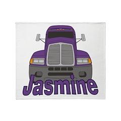 Trucker Jasmine Throw Blanket