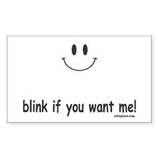 blink if you want me Decal