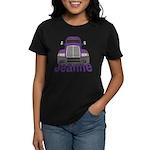 Trucker Jeanne Women's Dark T-Shirt