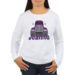 Trucker Jeanne Women's Long Sleeve T-Shirt