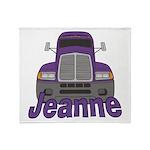 Trucker Jeanne Throw Blanket