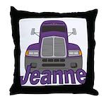 Trucker Jeanne Throw Pillow
