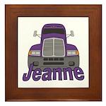 Trucker Jeanne Framed Tile