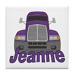 Trucker Jeanne Tile Coaster