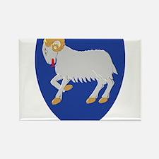 Faroe Islands Coat Of Arms Rectangle Magnet