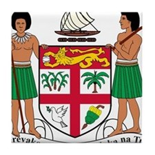 Fiji Coat Of Arms Tile Coaster