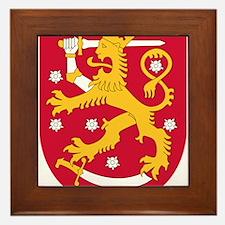 Finland Coat Of Arms Framed Tile
