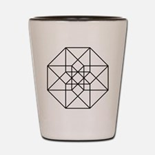 Geometrical Tesseract Shot Glass