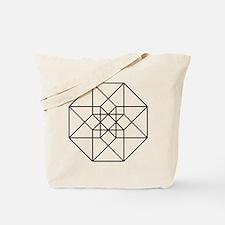 Geometrical Tesseract Tote Bag