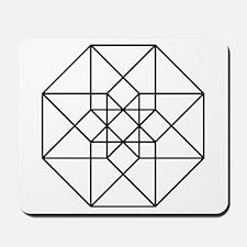 Geometrical Tesseract Mousepad