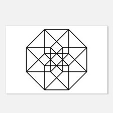 Geometrical Tesseract Postcards (Package of 8)