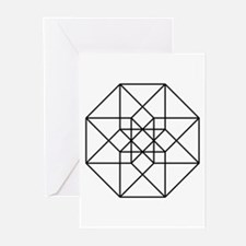 Geometrical Tesseract Greeting Cards (Pk of 10)