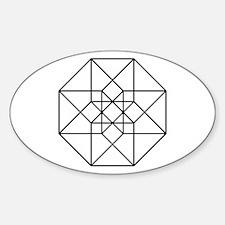 Geometrical Tesseract Decal