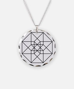 Geometrical Tesseract Necklace
