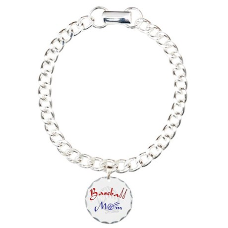 baseballmomglov.png Charm Bracelet, One Charm