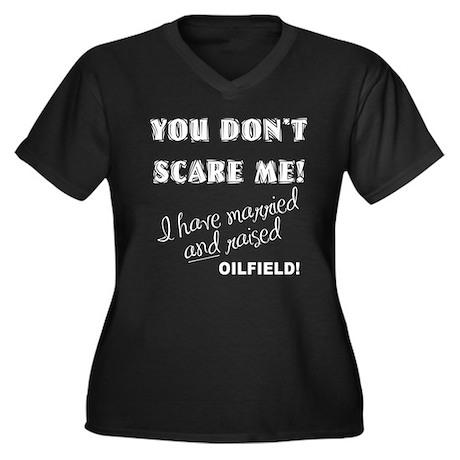 ScareMe Women's Plus Size V-Neck Dark T-Shirt