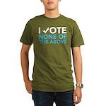 Vote None of the Above Organic Men's Dark Tee