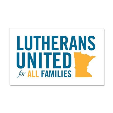 LUTHERANS UNITED FOR ALL FAMILIES Car Magnet 20 x