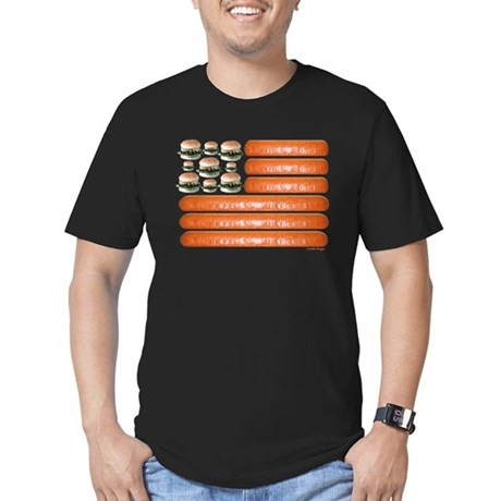 4th of July BBQ Men's Fitted T-Shirt (dark)