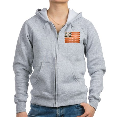 4th of July BBQ Women's Zip Hoodie