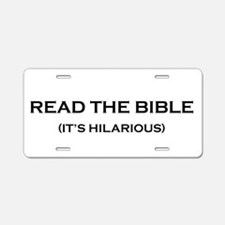 Read The Bible Aluminum License Plate