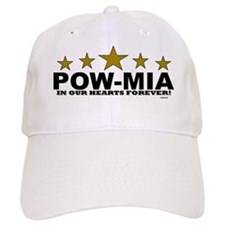 POW-MIA In Our Hearts Forever Baseball Cap