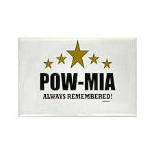 POW-MIA Always Remembered Rectangle Magnet