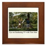Eye on Gardening TV Shoot Framed Tile