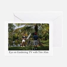Eye on Gardening TV Shoot Greeting Cards (Package